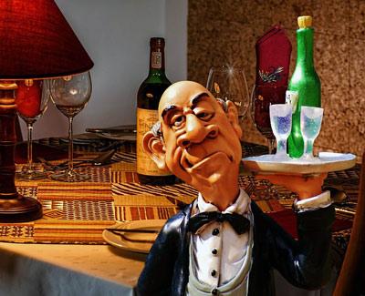 официант-статуэтка