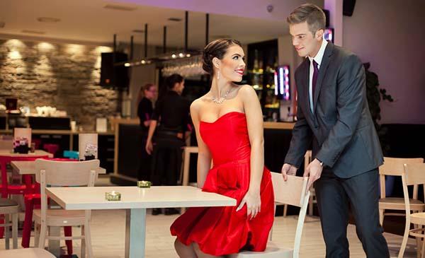 Gentlemen in restaurant