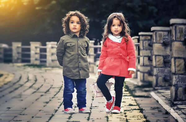 девочка и мальчик модель