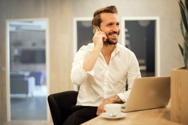 мужчина общение телефон