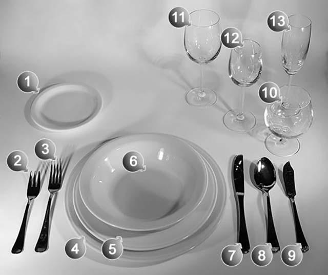 пример сервировки обед