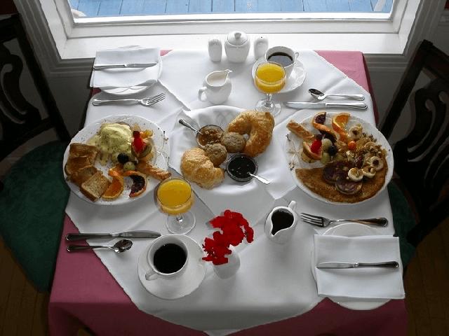 завтрак пример сервировки